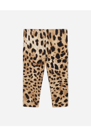 Dolce & Gabbana Girls Printed Skirts - Trousers and Skirts - Interlock leggings with leopard print female 6/9