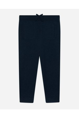Dolce & Gabbana Boys Trousers - Trousers and Shorts - Cashmere jogging pants with heritage embroidery male 4