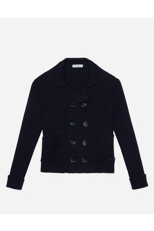 Dolce & Gabbana Boys Jumpers - Sweaters - Double-breasted cardigan in ribbed and plain knit wool male 8