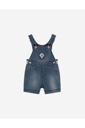 Dolce & Gabbana Boys Bodysuits & All-In-Ones - Gift Sets and Babygrows - Jersey denim dungarees male 9/12