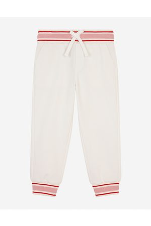 Dolce & Gabbana Trousers and Skirts - Jersey jogging pants with floral patch female 2