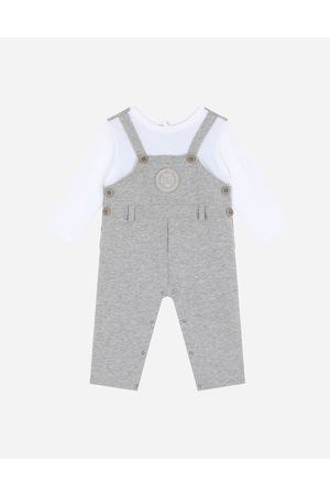 Dolce & Gabbana Boys Bodysuits & All-In-Ones - Gift Sets and Babygrows - Jersey dungaree onesie with DG laurel patch male 6/9