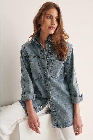 Trendyol Pocket Denim Jacket - Blue