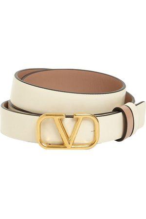 VALENTINO GARAVANI 2cm Go Logo Reversible Leather Belt