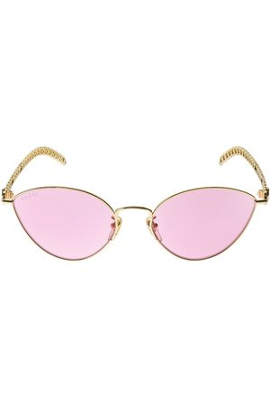 Gucci Cat-eye Metal Sunglasses W/ Charms