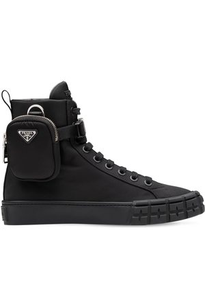 Prada 35mm Wheel Re-nylon High Top Sneakers