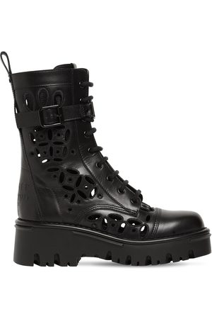 VALENTINO GARAVANI 50mm Atelier Leather Combat Boots