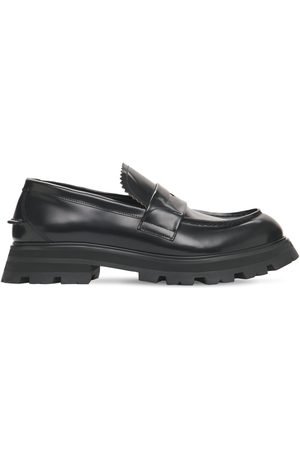 Alexander McQueen Brushed Leather Loafers