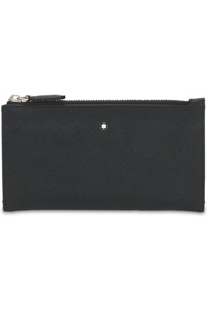 Mont Blanc Logo Sartorial Leather Mini Zip Pouch