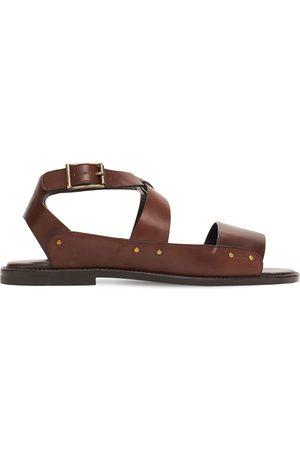 Manolo Blahnik Men Sandals - Halias Leather Sandals