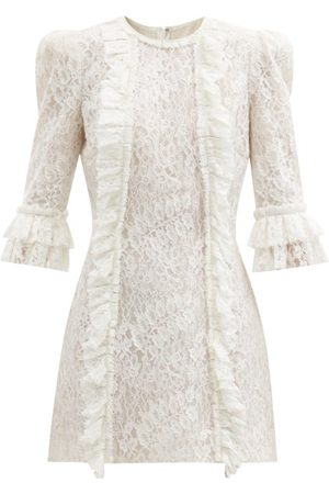 The Vampire's Wife Anastasia Leavers-lace Mini Dress - Womens - Ivory
