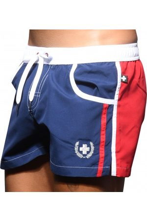 Andrew Christian Men Swim Shorts - Navigator Swim Shorts - Navy - XS