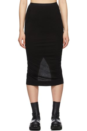 RICK OWENS LILIES Women Pencil Skirts - Black Jersey Tube Skirt