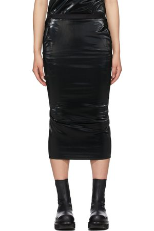 Rick Owens Lilies Black Polished Tube Skirt