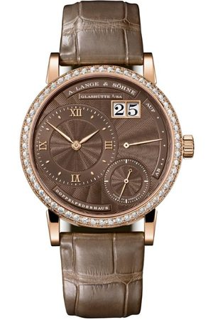 A. LANGE & SOHNE Rose Gold and Diamond Little Lange 1 Watch 36.8mm