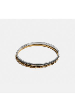 COACH Pegged And Pave Bangle Set in