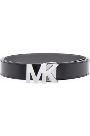 Michael Kors Men Belts - Logo-plaque leather belt