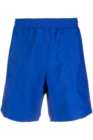 Ami Embroidered-logo swim shorts