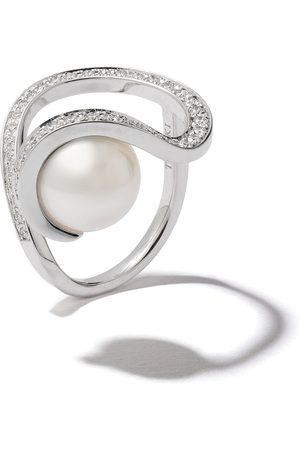Tasaki Women Rings - 18kt white gold Aurora South Sea pearl and diamond ring
