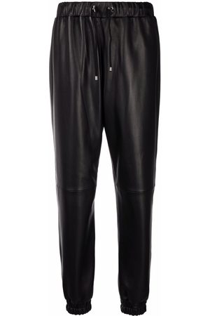 Philipp Plein Leather tapered trousers