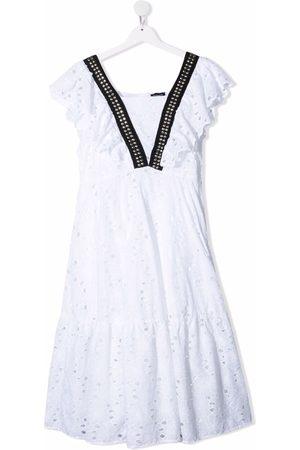 MONNALISA TEEN broderie anglaise dress