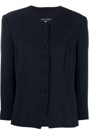 Giorgio Armani 1990s round-neck single-breasted jacket