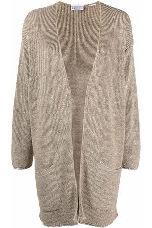 Gianfranco Ferré 1990s lurex-knit slouchy cardigan - Neutrals
