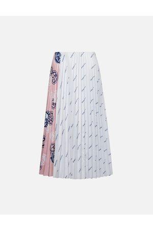 Evisu Color-blocking Pleated Skirt
