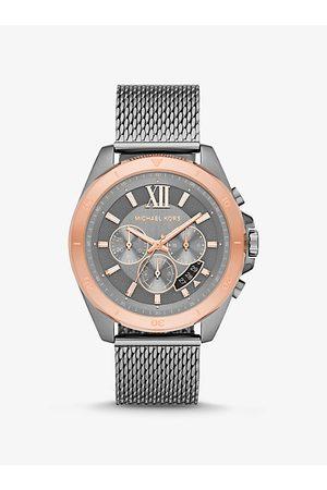 Michael Kors Men Watches - MK Oversized Brecken Gunmetal Mesh Watch - Gunmetal
