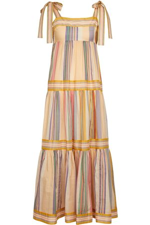 ZIMMERMANN Women Maxi Dresses - Mae striped cotton maxi dress