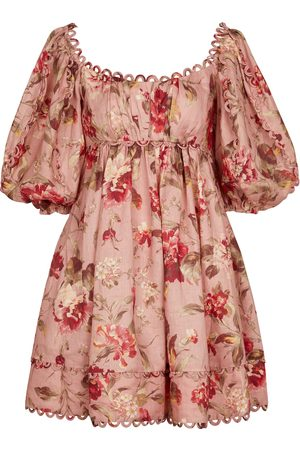 ZIMMERMANN Women Printed Dresses - Cassia floral linen minidress