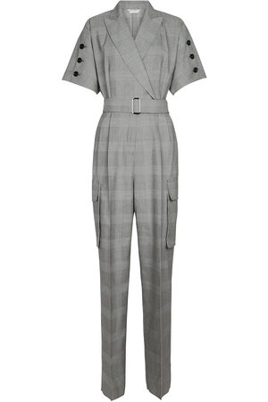 Max Mara Bari checked virgin wool jumpsuit