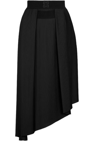 Givenchy Women Midi Skirts - Pleated crêpe de chine midi skirt