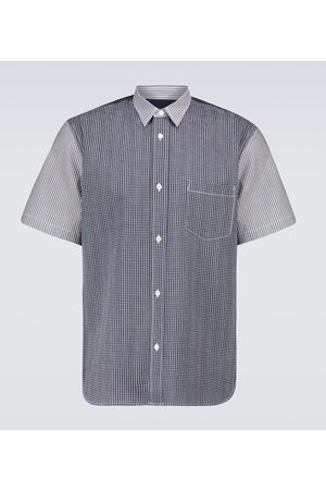 Comme des Garçons Men Short sleeves - Short-sleeved seersucker shirt