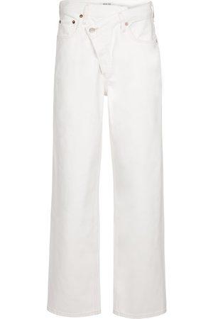 AGOLDE Women High Waisted - Criss-Cross high-rise straight jeans