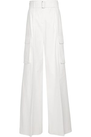 Max Mara Women Cargo Trousers - Nebbia stretch-cotton cargo pants