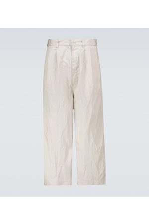 Comme des Garçons Men Wide Leg Trousers - Cotton wide-leg pants
