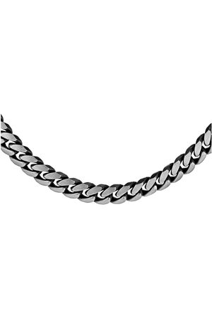 Love GOLD Sterling 220 Oxidised Curb Chain 51Cm/20