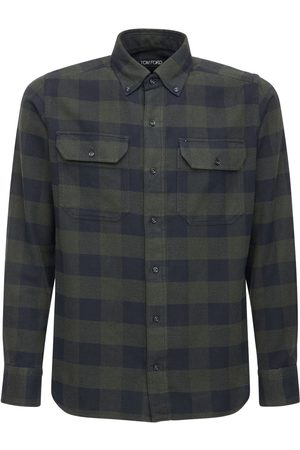Tom Ford Men Shirts - Check Cotton Gingham Leisure Shirt