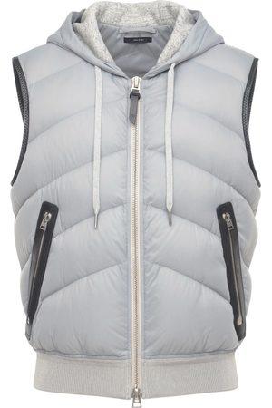 Tom Ford Hooded Nylon & Jersey Vest