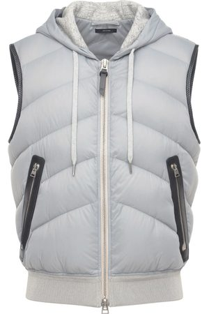 Tom Ford Men Body Warmers - Hooded Nylon & Jersey Vest