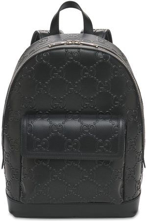 Gucci Gg Embossed Leather Backpack