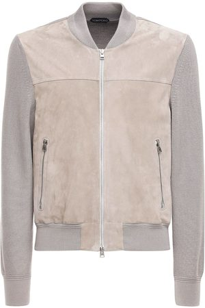 Tom Ford Suede & Wool Knit Jacket