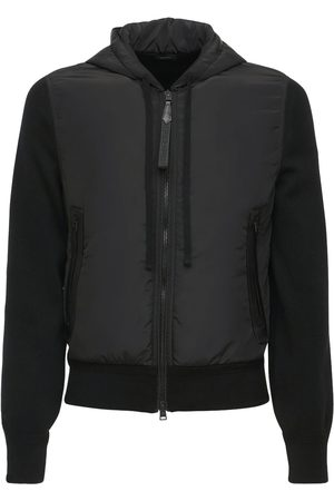 Tom Ford Men Coats - Hooded Nylon & Wool Knit Jacket