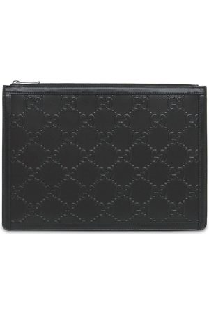 Gucci Men Purses & Wallets - Gg Embossed Leather Pouch