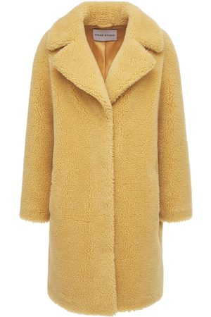 Stand Studio Camille Cocoon Faux Fur Teddy Coat