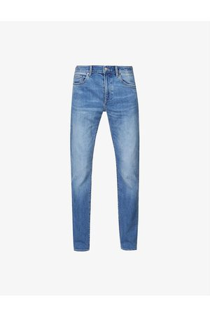 HUGO BOSS Men Tapered - Mid-rise tapered stretch-denim jeans
