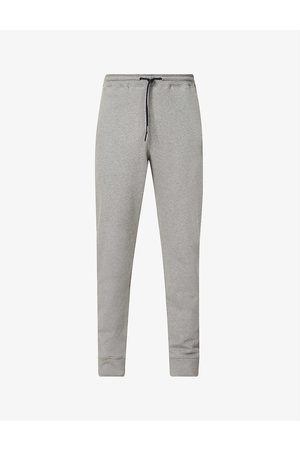 Paul Smith Men Sports Trousers - Zebra brand-embroidered organic-cotton jogging bottoms