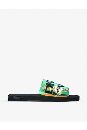 DKNY Women Sandals - Isha logo-strap slides