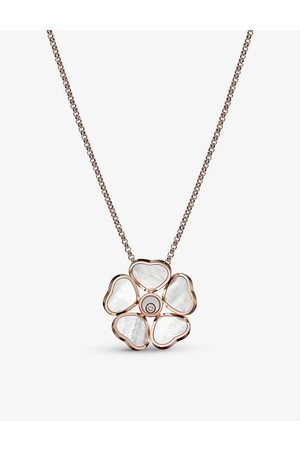 Chopard Women Necklaces - Happy Hearts Flower 18ct rose